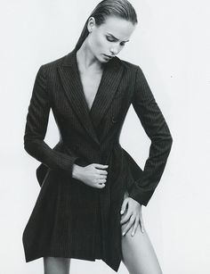 photo embodies the mood of the campaign. super beauty focused, sensual yet sophisticated.   GRAY (Harper's Bazaar)