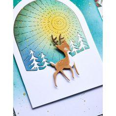 Memories Box, Big Shot, Winter Schnee, Memory Box Cards, Christmas Scenes, Snow Globes, Snow Globe, Reindeer, Die Cutting