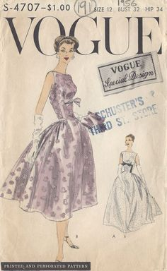 Vogue S-4707 from 1956   Reissued as Vogue 8874