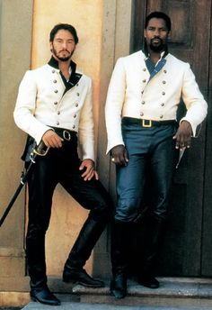 fuckyeahcostumedramas:Keanu Reeves & Denzel Washington in 'Much Ado About Nothing' (1993).