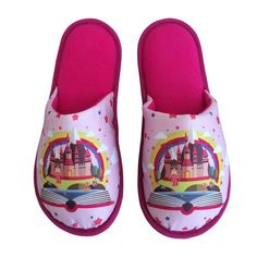 Pantufa Infantil Castelo Encantado Pink > Conforto Store