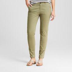Women's Skinny Chino Pant - Merona Healthy Green 10