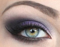 Purple eye makeup :)
