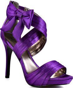 Luichiny Purple Satin Pumps/Dorothy Johnson