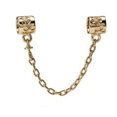 Pandora, Safety Chain, 14K Gold, No.750312