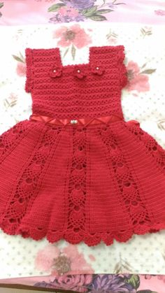 Crochet Cotton Baby Dress Hat pink and white by GoingCrafty - donut decor Crochet Baby Dress Pattern, Knit Baby Dress, Baby Dress Patterns, Crochet Poncho Patterns, Baby Girl Crochet, Crochet Baby Clothes, Baby Knitting Patterns, Baby Cardigan, Baby Girl Dresses
