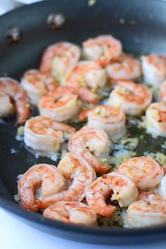 10 Minute Spicy Garlicky Shrimp with Charred Ciabatta via cookingforkeeps.com