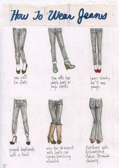 » How To Wear Jeans My Closet in Sketches