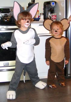 Tom and Jerry Costumes #Halloweencostumes #paircostumes #couplescostumes #duo #kidcostumes