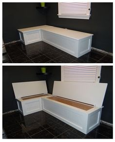 Kitchen Banquette Table Seating With Storage DIY Project These 2 Amazing Articles Of How To Build