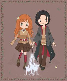 HP7-Severus Snape and lily by Ichijouji.deviantart.com