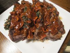 Spinach-Stuff Steaks for 7 Weight Watchers Winning Points and 9 Smart Points