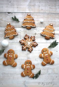 Biscuits pain d'épices - Carol Dailey Fall Desserts, Christmas Desserts, Christmas Baking, Gingerbread Cookies, Christmas Cookies, Noel Christmas, Chocolate Cake Mix Cookies, Kentucky Butter Cake, Christmas Biscuits