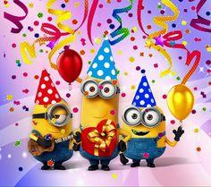 Congratulations Your One In A Minion. Minion Birthday Wishes, Happy Birthday Kind, Happy Birthday Wishes Images, Happy Birthday Greetings, Birthday Fun, Birthday Pictures, Birthday Images, Anniversaire Wonder Woman, Birthday Wallpaper