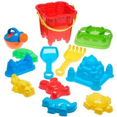 Full Beach Toy Set in Reusable Zippered Bag: Amazon.co.uk: Toys & Games