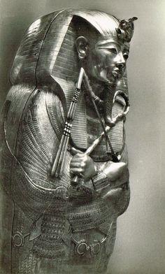Lot of 3 Vintage 1920s Egyptian Lehnert & Landrock Photo Postcards of Ancient Pharaoh Tutankhamun Mysterious Treasures