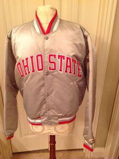 Vintage Ohio State Buckeyes Starter Satin Insulated Jacket Medium Scarlet Gray | Sports Mem, Cards & Fan Shop, Fan Apparel & Souvenirs, College-NCAA | eBay!