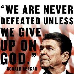 We are never defeated unless we give up on God  ~~I Love Jesus Christ