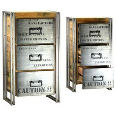 eclectic filing cabinets and carts by Marco Polo Imports