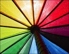 Bright Photographs Using Rainbow Colors