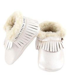 Pearl Fringe Faux Shearling-Lined Bootie