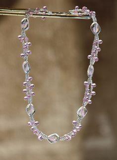 Semi Precious Gemstones, Diy Jewelry, Glass Beads, Pearls, Facebook, Crystals, Diamond, Pink, Handmade