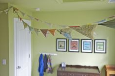 Map Paper Airplanes Bedroom Decor