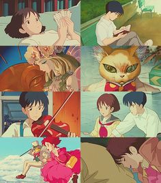 Whisper of the Heart Seiji and Shizuku ~ I JUST watched this last weekend!!! It was SOOO cute!!!! Also fun fact: Seiji has the same English VA as Riku from Kingdom Hearts!