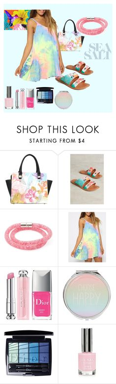 """Water Colors"" by chauert ❤ liked on Polyvore featuring Jasper & Jeera, Swarovski, WithChic, Christian Dior and Topshop"