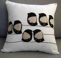 birds Pillow Cover