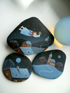 Beautiful painted rocks