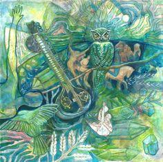 Emerald Wisdom Art Print