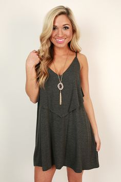 A classic dress is a must for every girl's wardrobe! This dress looks great with earrings and sandals or even sneakers!