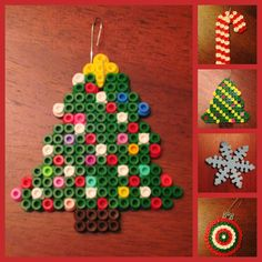 Christmas crafts- My kids are completely obsessed with Perler beads. They make magnets, ornaments, and gifts out of them.