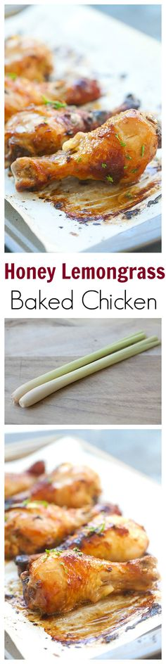 Honey Lemongrass Baked Chicken – honey & lemongrass marinated chicken baked to golden perfection. So easy and yummy for the entire family | rasamalaysia.com