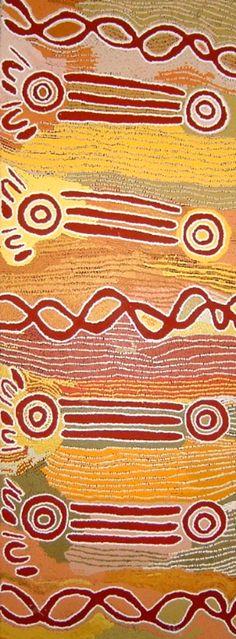 Hair String and Snake Vine Dreaming by Maggie Watson Napangardi