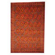 Herat Oriental Semi-antique Afghan Hand-knotted Tribal Balouchi / Rust Rug
