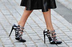Spring Skirts: Black & White - Street Style - Heels - TheStyleDraft