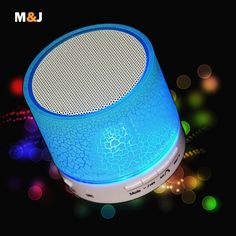 LED MINI Bluetooth Speaker A9 TF USB FM Wireless - For phone PC with Mic -6 Colors