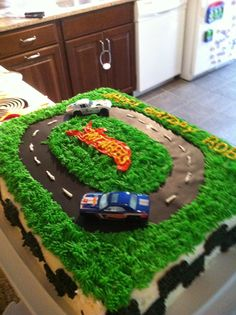 Husbands hotwheels cake