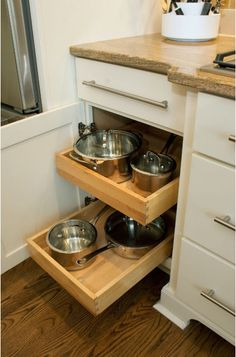 9 Kitchen Cabinet Accessories for Universal Design  Retrofit your cabinets without doing a full remodel to make your kitchen more accessible without blowing your budget