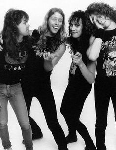 Lars Ulrich, James Hetfield, Kirk Hammett & Jason Newsted CLFF THEY NEED YOU