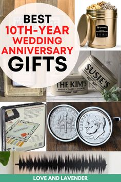 The tenth anniversary is the ideal time to take a step back and really say thank you to your partner for being there for you over the years. Weve listed all the best 10th-year wedding anniversary gifts that are tin-themed. See it here! #anniversarygifts #weddinganniversarygiftideas #tingifts #tenthanniversary #10thanniversary