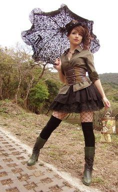 Steampunk style ~ viatenshinosekai.deviantart.com #coupon code nicesup123 gets 25% off at  Provestra.com Skinception.com