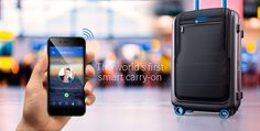 Lock, weigh and track your Bluesmart carry-on with your phone. Recharge your devices and more!