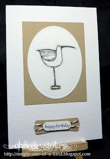 Simply One Of A Kind: Week 85 at Less is More (Rubber Stamp Gallery sea bird)