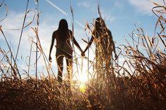 Walking through a wheat field