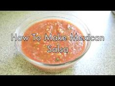 5 Ingredient Mexican Salsa Recipe - YouTube