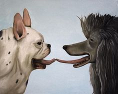 French Kiss Painting by Leah Saulnier - French Kiss Fine Art Print