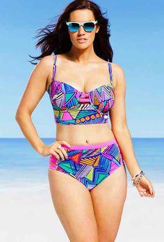 GabiFresh Nala Plus Size Underwire Midkini | 33 Bangin' Swimsuits For Girls With Big Boobs
